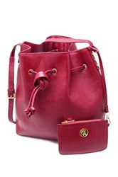 Erica Anenberg Chelsea Leather Bucket Bag Purple