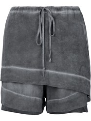 Lost And Found Ria Dunn Foldover Front Shorts Grey