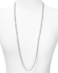 Abs By Allen Schwartz Multi Chain Illusion Necklace 36 Silver
