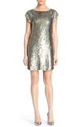 Women's Alice Olivia 'Sherry' Sequin T Shirt Dress Antique Silver