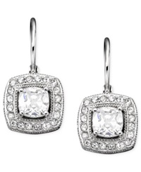 Eliot Danori Earrings Silver Tone Mixed Metal Cubic Zirconia 1 Ct. T.W.
