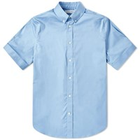 Alexander Mcqueen Short Sleeve Cuffed Shirt Blue