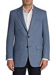 Hickey Freeman Wool Blend Two Button Sportcoat Black