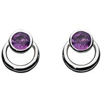 Kit Heath Simmer Loop Stud Earrings Amethyst