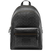 Coach Signature Academy Leather Backpack Black