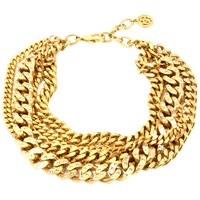 Ben Amun Gold Chain Torsade Crystal Necklace