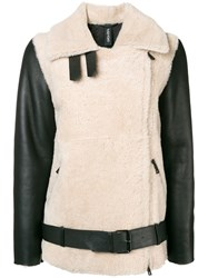 Giorgio Brato Oversized Shearling Jacket Black