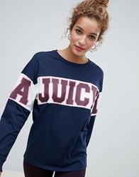 Juicy Couture By Long Line Multi Logo Hoodie Heather Cozy Pitch B