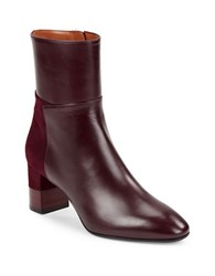 Aquatalia By Marvin K Emery Leather And Suede Ankle Boots Burgundy