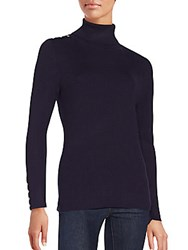 Calvin Klein Ribbed Long Sleeve Turtleneck Sweater Aubergine
