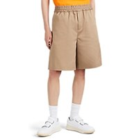 Acne Studios Richard Cotton Oversized Shorts Beige Tan