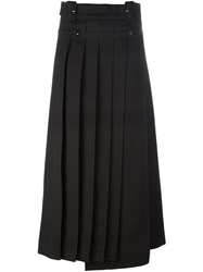 Carven Pleated Midi Skirt Black
