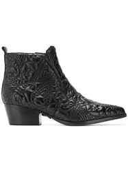 Pinko Embossed Ankle Boots Black
