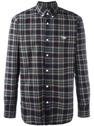 Maison Kitsune Checked Shirt Green