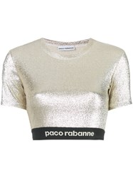 Paco Rabanne Stretch Lurex Top Gold