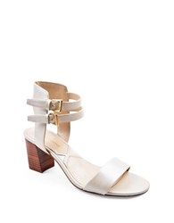 Adrienne Vittadini Palti Nappa Leather Sandals Bone