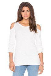 Nation Ltd. Olivia Cold Shoulder Tee White