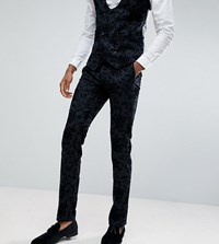 Noose And Monkey Tall Super Skinny Suit Pants In Flocking Gray