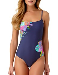 Anne Cole Maillot One Piece Floral Printed Swimsuit Multi