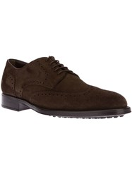 Tod's Classic Suede Brogue Brown