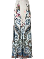 Etro Porcelain Print Fluid Skirt Nude And Neutrals