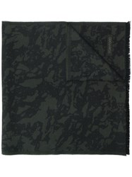 Tom Ford Camouflage Pattern Scarf Black