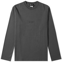 Olaf Hussein Long Sleeve Seminomadic Tee Grey