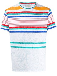 Etro Striped Paisley Patterned T Shirt 60