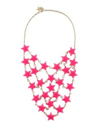 Red V Necklaces Fuchsia