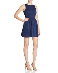 Necessary Objects Lasercut Scuba Dress Compare At 88 Navy