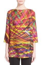 Women's Escada 'L.A. Lights' Print Silk Tunic