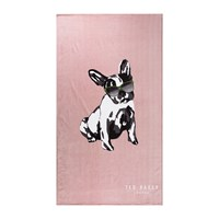 Ted Baker Cotton Dog Beach Towel Pink