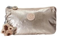 Kipling Creativity Large Pouch Sparkly Gold Clutch Handbags