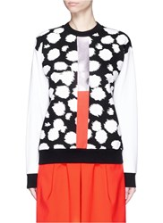 Etre Cecile Cheetah Print Foil Stripe Cropped Sweatshirt Animal Print Multi Colour