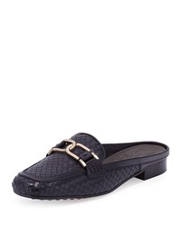 Sesto Meucci Margret Woven Leather Mule Navy