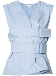 Paco Rabanne Belted Top Blue