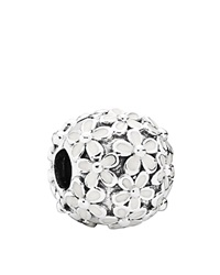 Pandora Design Pandora Charm Sterling Silver And Enamel Darling Daisy Meadow Moments Collection White