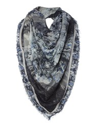Label Lab Reflection Print Scarf Grey