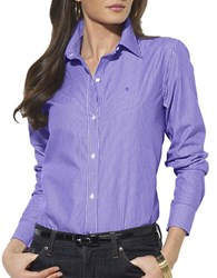 Lauren Ralph Lauren Stripe Dress Shirt Lavender White