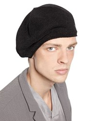 Emporio Armani Cotton Blend Knit Hat