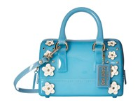 Furla Candy Lilla Sweetie Mini Satchel Turchese Petalo Satchel Handbags Blue