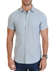 Nautica Short Sleeve Cotton Twill Shirt Anchor Blue