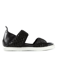 Bruno Bordese Woven Sandals Black