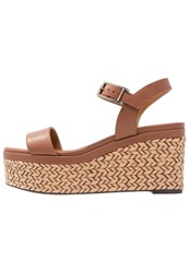 Aquatalia By Marvin K Cassidy Wedge Sandals Chocolate Brown