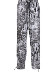 Diesel Poplin Graphic Print Trousers 60