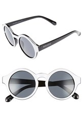Perverse Women's Dr. Who 46Mm Sunglasses White Black White Black