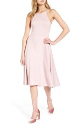 Soprano Women's Knit Midi Dress Pale Pink