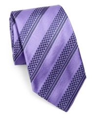 Vilebrequin Striped Silk Tie Lavender