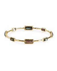 Ippolita 18K Gold Rock Candy Gelato 8 Stone Bangle In Black Shell