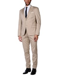 Daniele Alessandrini Grey Suits Beige